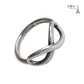 【巴黎站二手名牌專賣店】*TIFFANY & CO. 真品*925純銀無限造型戒指