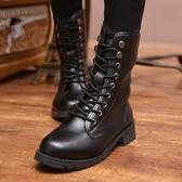 中筒馬丁靴英倫風軍靴女生短靴平底棉鞋機車皮靴子 黛尼時尚精品