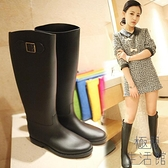 雨鞋女高筒成人防滑水靴時尚防水膠鞋馬靴套鞋【極簡生活】