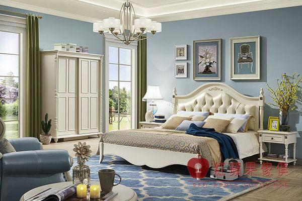 [紅蘋果傢俱] BT9913簡美系列 六尺床架 法式 歐式 鄉村 床台