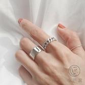 開口女戒指環韓版簡約鍊條麻花戒指【小酒窝服饰】
