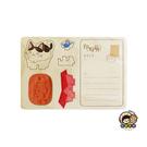 【收藏天地】印章明信片*咪咪小貓 ∕  印章 擺飾 送禮 趣味 文具 創意 觀光 記念品