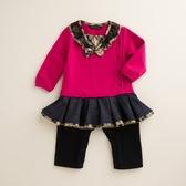 【金安德森】荷葉裙擺造型配色兔裝(共二色)