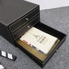 收納盒 抽屜 TOOKI & CO【Z432074】歐式精緻皮質辦公商務檔案盒/置物盒/三層抽屜收納盒-Pretty