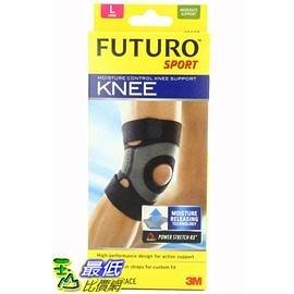 [美國直購] 體育水分控制膝關節的支持 Futuro Sport Moisture Control Knee Support, 4種尺寸選項(S/M/L/XL)