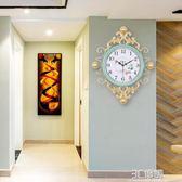 手工鐵藝北歐鐘表時鐘掛鐘客廳個性創意時尚現代簡約家用臥室大氣igo 3c優購