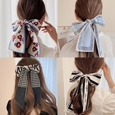 發帶網紅年新款絲巾森系超仙蝴蝶結頭飾仙女發飾飄帶頭繩發箍