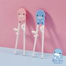 酷咕鴨 KUKU 幼童學習筷(藍色/粉色)