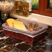 柳藤編織收納筐雜物籃超市貨架展示筐水果盤蔬菜食品籃子面包筐WY