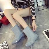 雨鞋 水桶鞋女款大人雨鞋夏季靴中筒輕便透氣成防滑短防水時尚可愛低筒