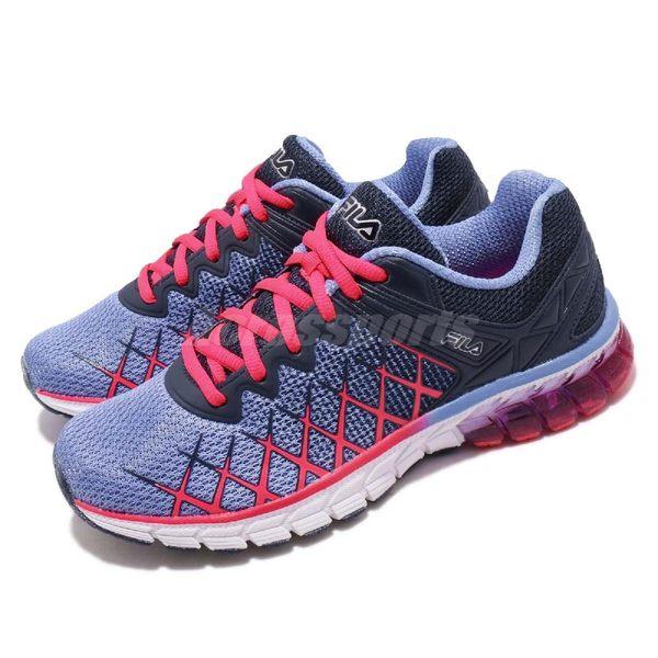 【五折特賣】FILA 慢跑鞋 Guardian 2 Energized 藍 粉紅 動能迴力膠 運動鞋 女鞋【PUMP306】 5J032R466