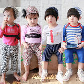 Augelute Baby 男女條紋動物紋造型包屁衣 3件套 37291