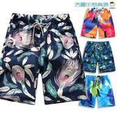 尾牙年貨節短褲男休閒運動五分速干海灘褲洛麗的雜貨鋪