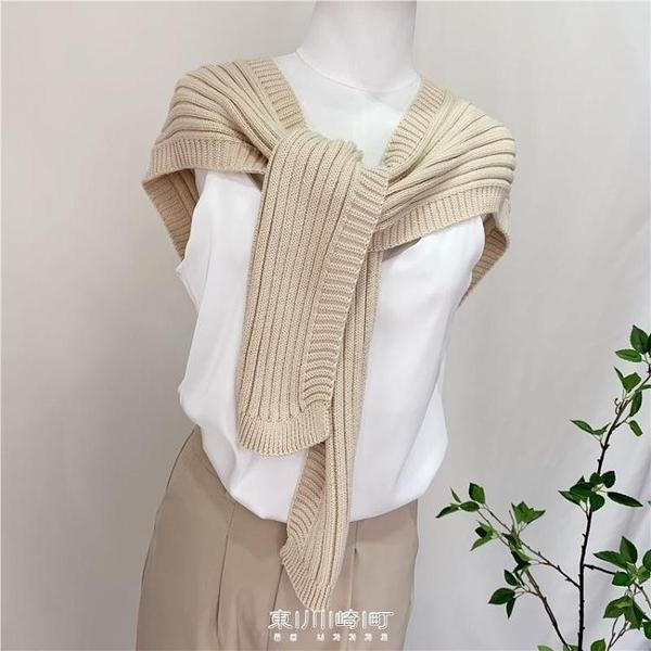 三十而已同款圍巾披肩兩用女新秋冬加厚斗篷針織秋季外搭假領子 快速出貨