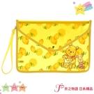 【京之物語】特價出清日本代購迪士尼小熊維尼與小豬HUNNY DAY透明手拿袋-現貨