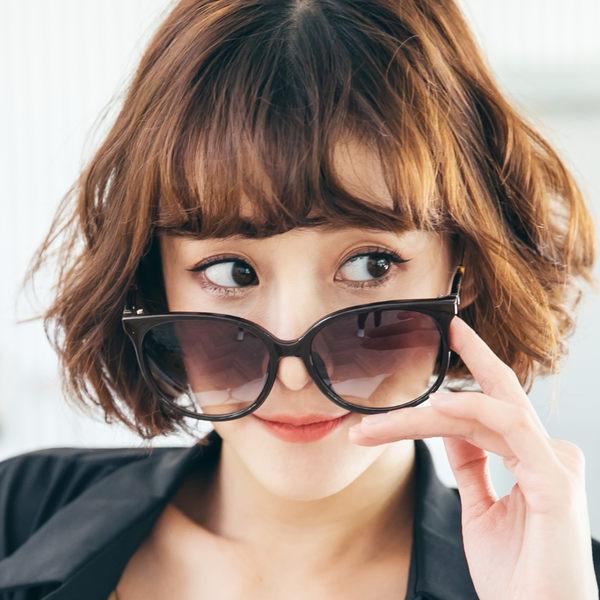 韓式棕色漸層女神款墨鏡