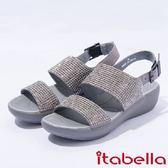 ★2017春夏新品★itabella.一字水鑽厚底涼鞋(7315-85灰)