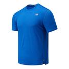 New Balance 男裝 短袖 慢跑 透氣 ICEX 涼感 輕量 藍【運動世界】AMT01234FCT