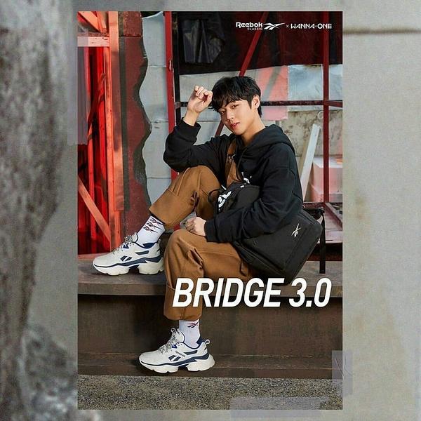 KUMO SHOES-現貨 Reebok Royal Bridge 3.0 X Wanna One 米藍 老爹鞋 增高 DV8337