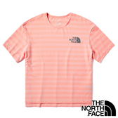 【THE NORTH FACE 美國】女 COOLMAX圓領 短袖T恤『K47 條紋粉』NF0A498J 戶外 登山 時尚 休閒 夏季 旅行