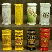 佛教用品 陶瓷香桶 香筒 家用 供佛 裝香的線香白香筒【onecity】