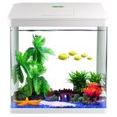 小型金魚缸家用小魚缸迷你水族箱桌面生態魚缸免換水懶人魚缸造景  ATF 聖誕免運
