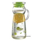 金時代書香咖啡 CafeDeTIAMO 玻璃水壺把手款950ml 綠色蘋果(綠) SGS檢測合格  HG2290G