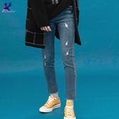 【早秋新品】American Bluedeer - 顯瘦高腰牛仔褲(魅力價)  秋冬新款