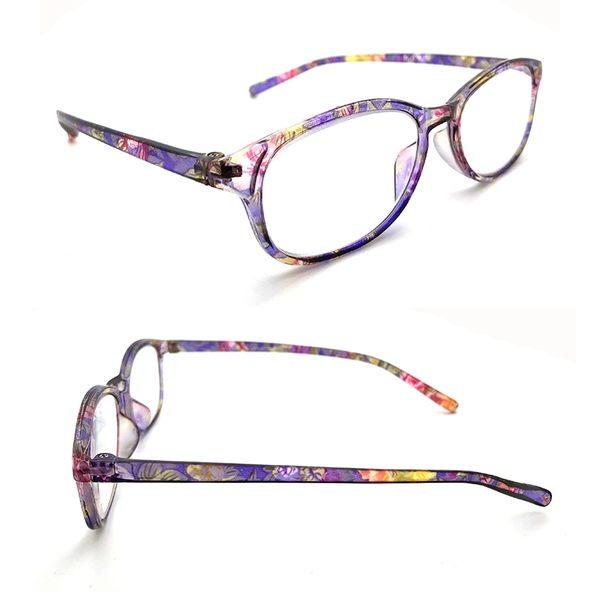 MIT抗藍光老花眼鏡 花色膠框 經檢驗合格 高硬度耐磨鏡片 配戴不暈眩