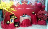 一定要幸福哦~~ 中國風婚禮佈置,包套專案15000元會場佈置,浪漫型婚禮氣球佈置
