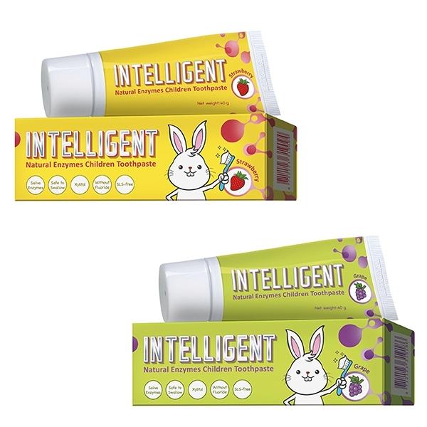 因特力 Intelligent 淨兒童淨酵素牙膏 (40g)-葡萄/草莓優格