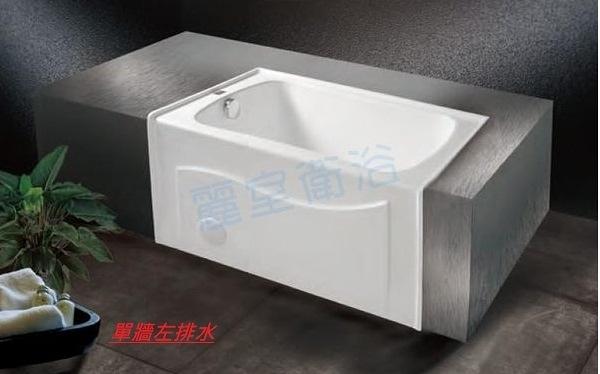 【麗室衛浴】BATHTUB WORLD 長型壓克力浴缸 LS-6205 單牆 106*73*60cm
