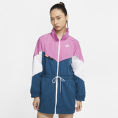 NIKE SPORTSWEAR 女裝 外套 梭織 立領 撞色 寬版 舒適 休閒 藍粉【運動世界】CJ2047-691