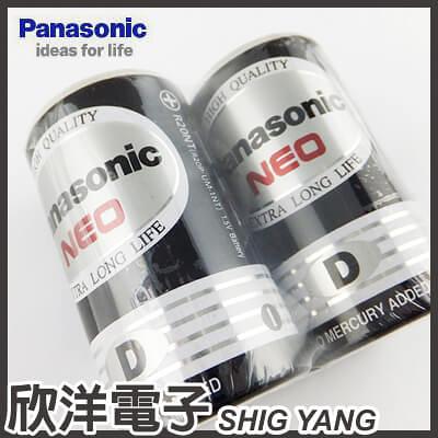 Panasonic 國際牌 1號環保碳鋅電池 1.5V (2入) D