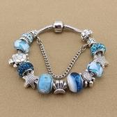 串珠手鍊-藍色海洋風琉璃飾品精選時尚女配件73kc325【時尚巴黎】