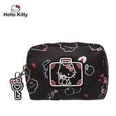 【橘子包包館】Hello Kitty 凱蒂漫旅-零錢包-黑 KT01T09BK 零錢包