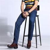 男牛仔褲直筒男裝商務休閒輕薄透氣彈力修身長褲子《印象精品》t675