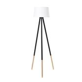 (組)特力屋萊特黑鐵3桿立燈白色燈罩-33cm