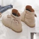 2020秋冬季新款韓版百搭加絨馬丁靴及踝靴瘦瘦靴短筒平底短靴女鞋 童趣