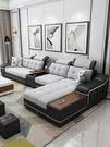 沙發北歐布藝沙發簡約現代小戶型網紅款輕奢客廳整裝組合貴妃三人家具 現貨快出YJT