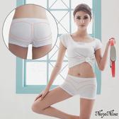 【性感寶盒】★簡單生活無縫中腰平口四角安全褲S-XL(白)★┌NA15350011