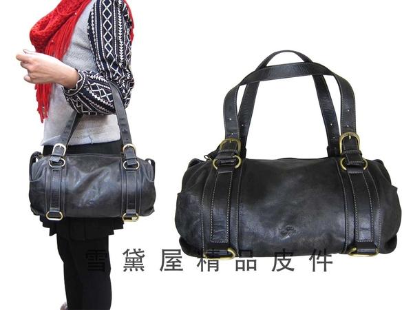 ~雪黛屋~CL 手提包中容量進口專櫃100%牛皮革可手提可肩背上班休閒復古個性百搭QZW7128