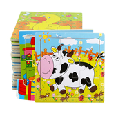 兒童立體木質拼圖幼兒寶寶早教益智智力玩具1-2-3-4-6歲木制拼板 【八折搶購】