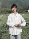 設計感小眾長袖寬鬆百搭棉質襯衣2019秋...