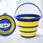固特異車用可摺疊水桶旅行便攜式硅膠釣魚桶戶外儲水桶伸縮洗車桶 科炫數位