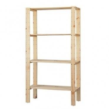 特力屋 PRO特選 松木可調整四層架 32x74x143cm