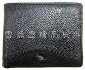 ~雪黛屋~Cougar 短夾專櫃男仕短夾100%進口牛皮革材質標準尺寸固定型證件夾NCG6510