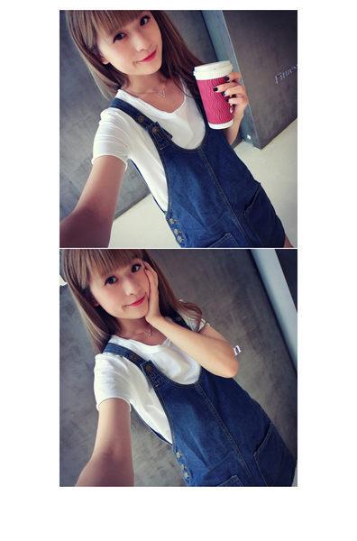 """免運 -ZUCA""""S - 顯廋前後雙口袋造型吊帶牛仔裙。 S/M/L【A-0787】"""