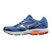 Mizuno Wave Impetus 4 美津濃 男 藍 白 橘 路跑鞋 慢跑鞋 運動鞋 J1GC161306 CP值超高