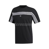 adidas 短袖T恤 3 Stripes Tee 黑 白 男款 短T 運動休閒 【PUMP306】 FM1535